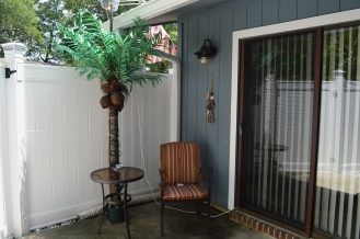 Patio can be accessed through living room or Carolina room.