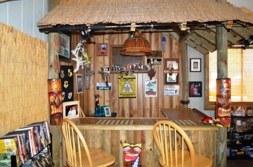 Entertain your visitors (or yourself!) in your very own tiki bar located in the Carolina Room!